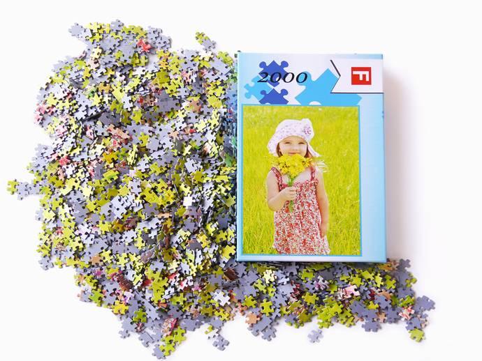 Fotopuzzel met 2000 puzzelstukjes en luxe doos