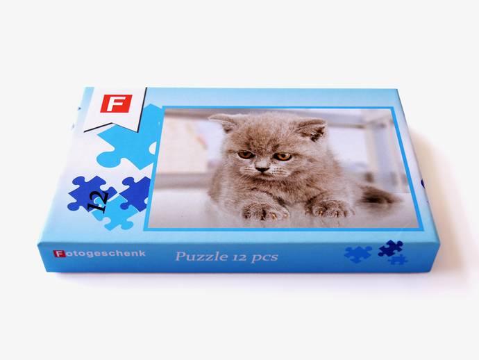 Puzzel 12 stukjes 26x38 cm met doos