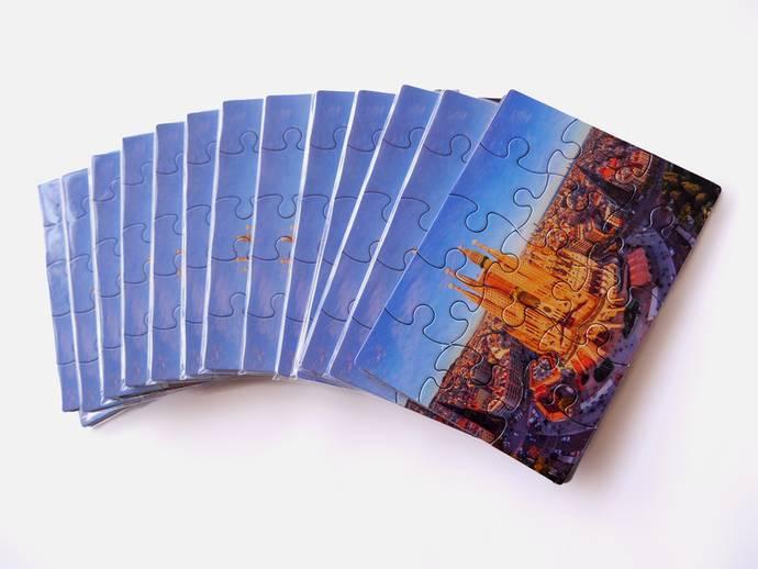 Puzzel kaart 6 of 15 stukjes 10x15 cm