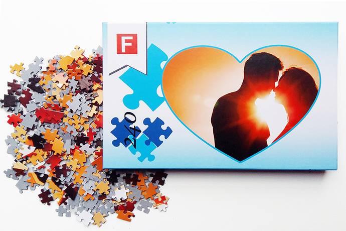 Foto puzzel hart vorm 30x40cm 240 puzzelstukjes
